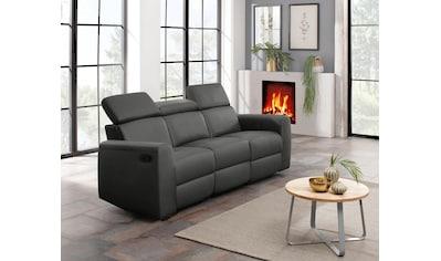Home affaire 3-Sitzer »Sentrano«, wählbar zwischen manueller oder elektrischer Relaxfunktion mit USB-Anschluß, auch in NaturLEDER kaufen
