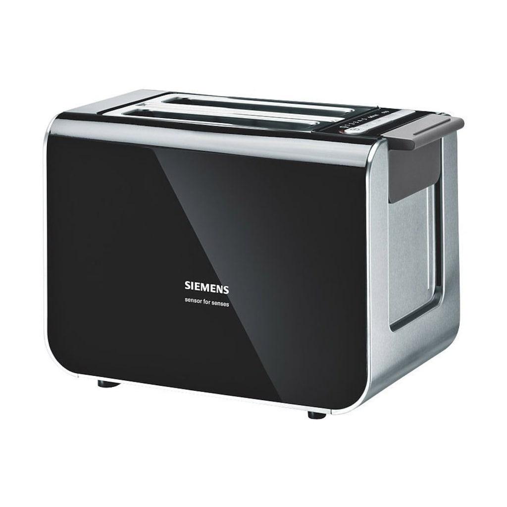 SIEMENS Toaster »Sensor for Senses TT86103«, 2 kurze Schlitze, für 2 Scheiben, 860 W, mit Quarzglasheizung, schwarz