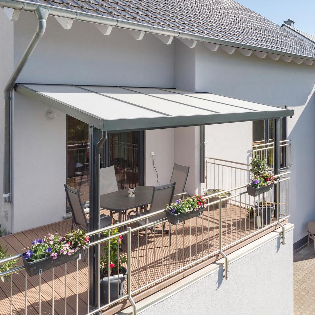 GUTTA Terrassendach »Premium«, BxT: 410x406 cm, Dach Acryl Klima blue