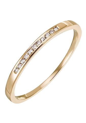 Firetti Diamantring »Feminin, ca. 1,80 mm breit, Kanalfassung, Glanz, massiv«, mit... kaufen