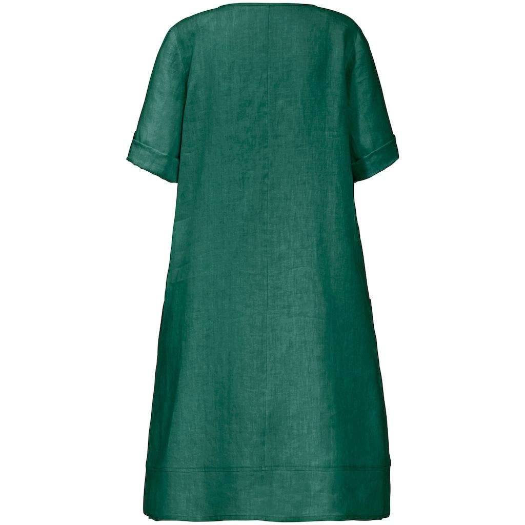 Anna Aura Sommerkleid »aus 100% Leinen mit 3/4-Arm«, und Biesen