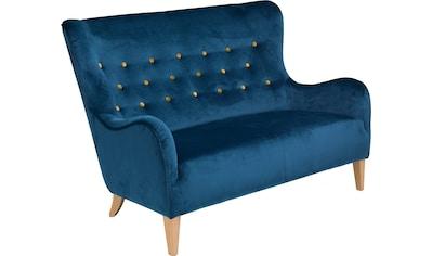 Max Winzer® 2-Sitzer »Melina«, im Retrolook, mit farbigen Zierknöpfen, Breite 149 cm kaufen