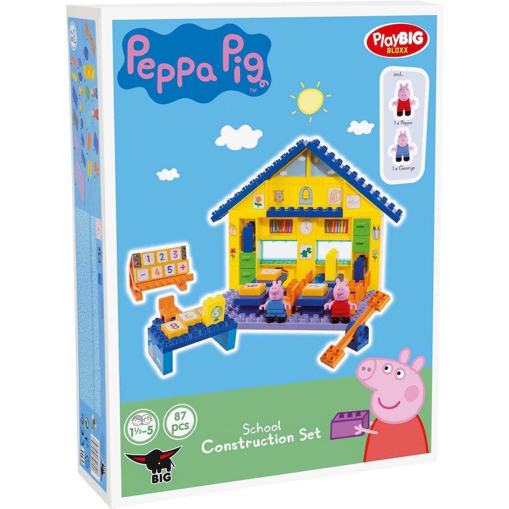 BIG Konstruktions-Spielset »BIG-Bloxx Peppa Pig, School«, (87 St.)
