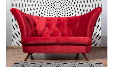 Max Winzer® Chesterfield-Sofa »Donny«, 2-Sitzer mit Knopfheftung, in geschwungener Form kaufen