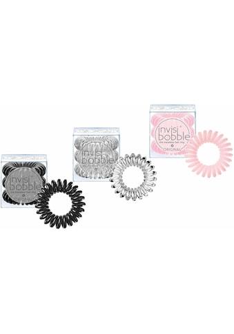 invisibobble Spiral-Haargummi »Original«, Black & Crystal Clear & Blush Hour kaufen