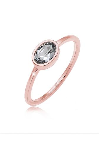 Elli Fingerring »mit Swarovski® Kristalle Ovalem Design 925 Silber« kaufen