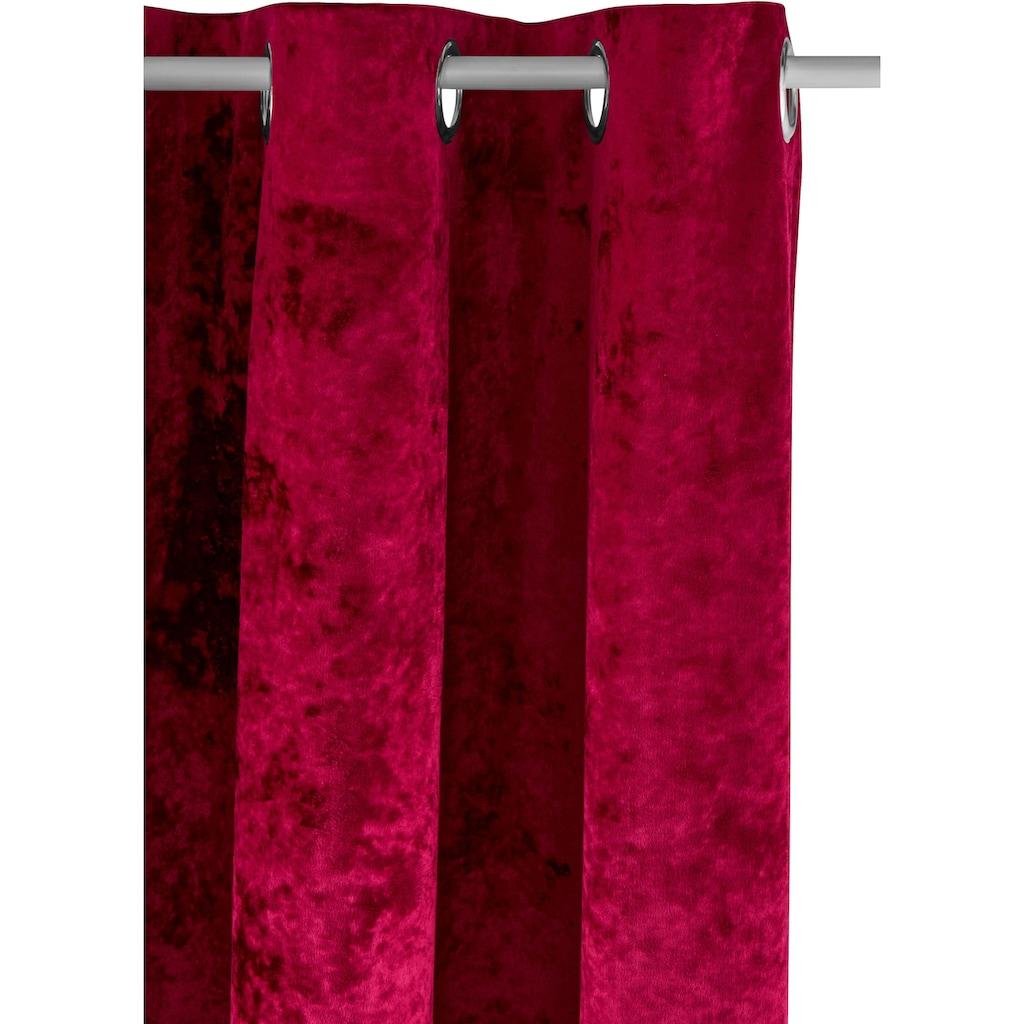 my home Vorhang »Velvet«, Samt Uni