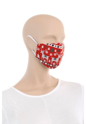 Hannah Trachten Mund - Nasen - Erwachsene mit weihnachtlichem Motiv kaufen