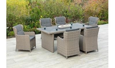 MERXX Gartenmöbelset »Ostiano«, (7 tlg.), 6 Sessel mit Tisch kaufen