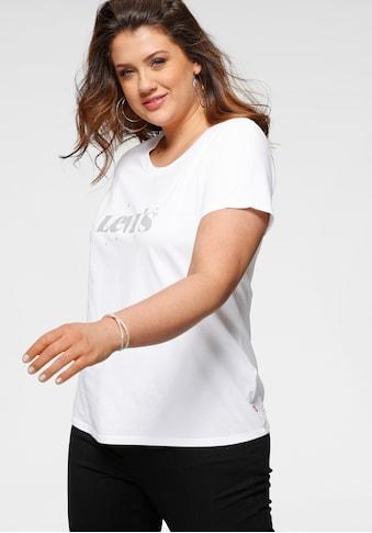 Levi's® Plus Rundhalsshirt »The perfect Tee«, mit Logo- und Sterneprint kaufen