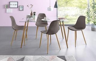Essgruppe eckiger glastisch mit 4 st hlen - Otto glastisch ...