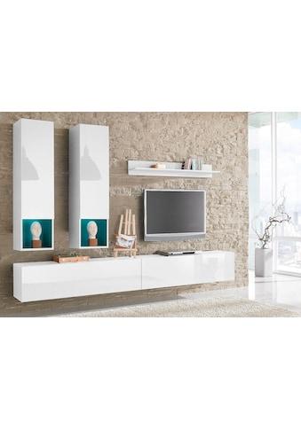 Tecnos Wohnwand, (Set, 5 tlg.), weiße Hochglanz Fronten/ Korpus kaufen