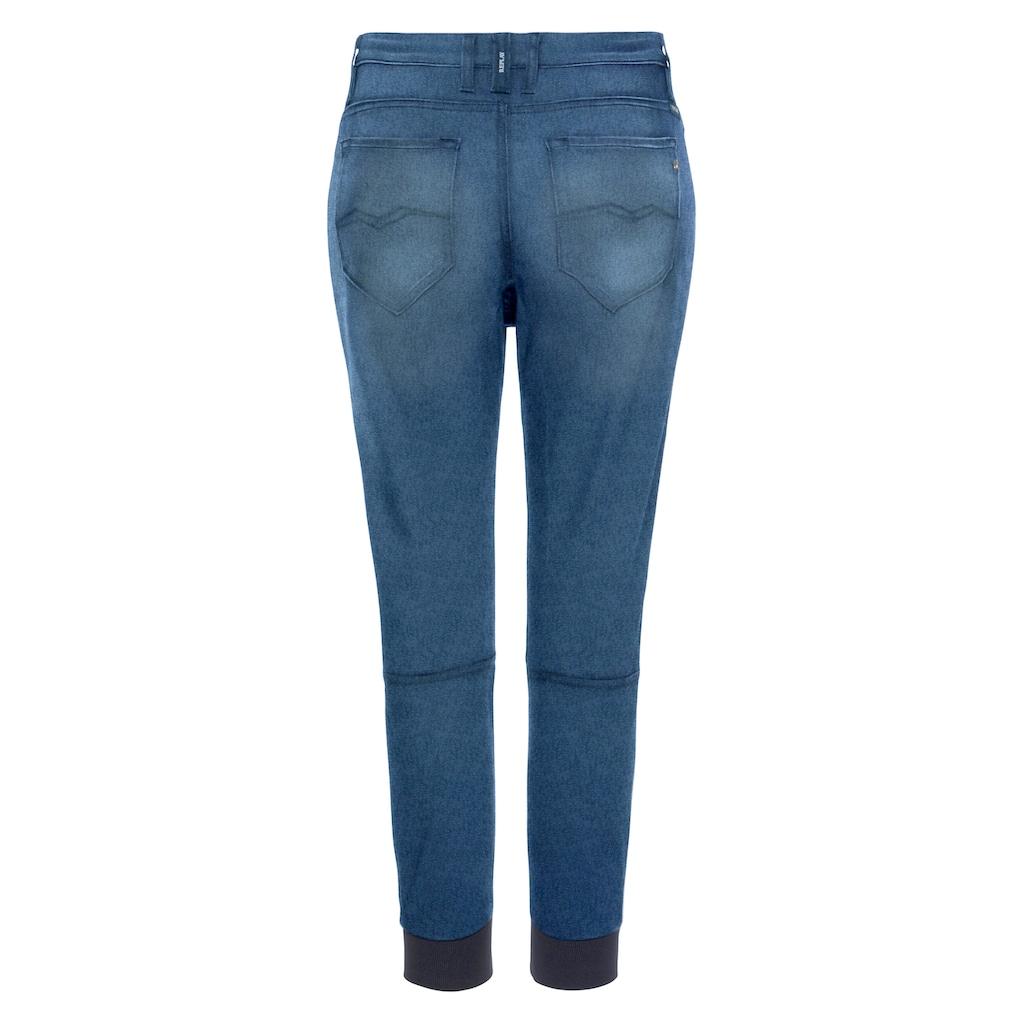 Replay Jogg Pants, coole Jeans in Stretch-Qualität, mit Bindeband & lässigen Seitentaschen