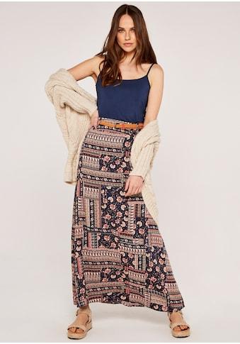 Apricot Maxirock »Sarasa Patchwork Belted Skirt«, mit Flechtgürtel kaufen