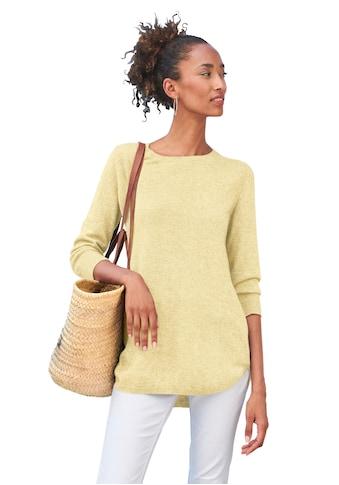 Peter Hahn 3/4 Arm-Pullover »Rundhals-Pullover mit 3/4-Arm«, Dekorative Naht kaufen