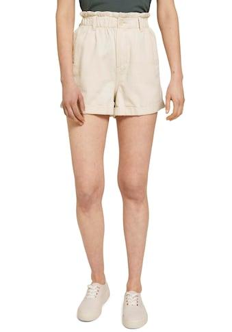 TOM TAILOR Denim Shorts, mit gerafftem Bund und individuell krempelbaren Hosenbeinen kaufen