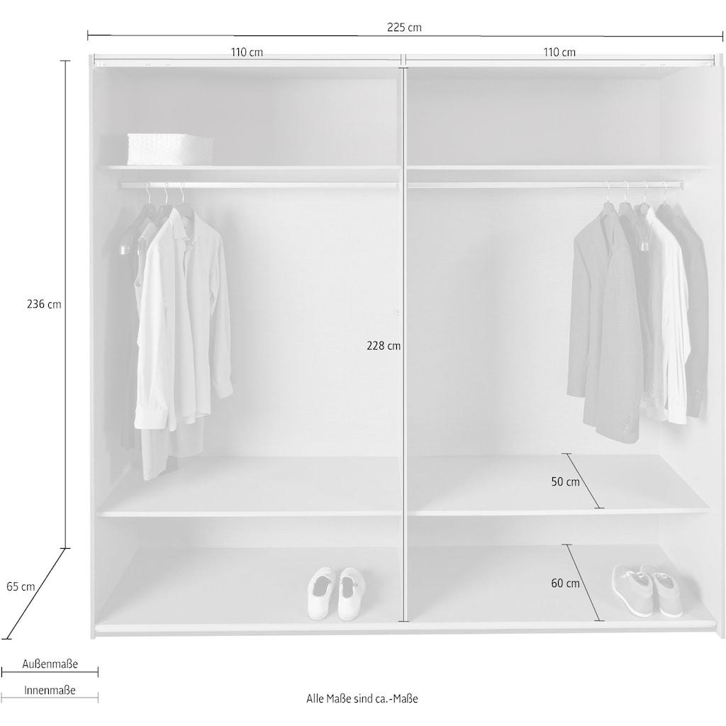Wimex Schwebetürenschrank »Altona«, mit Glaselementen und zusätzlichen Einlegeböden