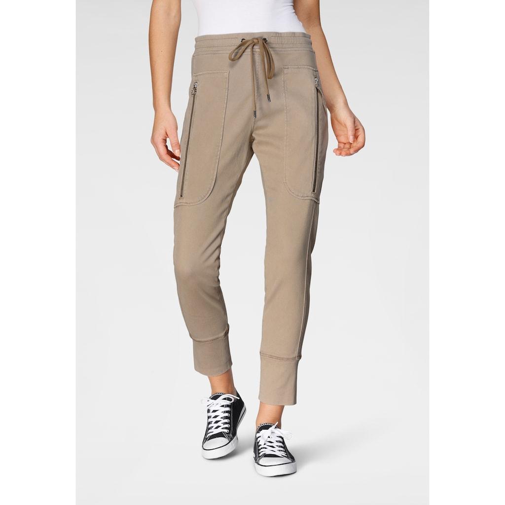 MAC Jogger Pants »Future-Pants«, Gewebte Schlupfform mit großen Taschen