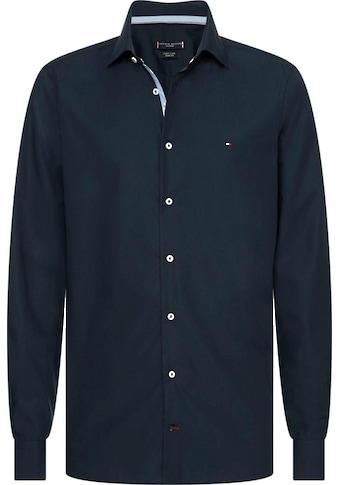 Tommy Hilfiger TAILORED Businesshemd »POPLIN CLASSIC SLIM SHIRT«, mit verdeckten Kontrastbesätzen kaufen