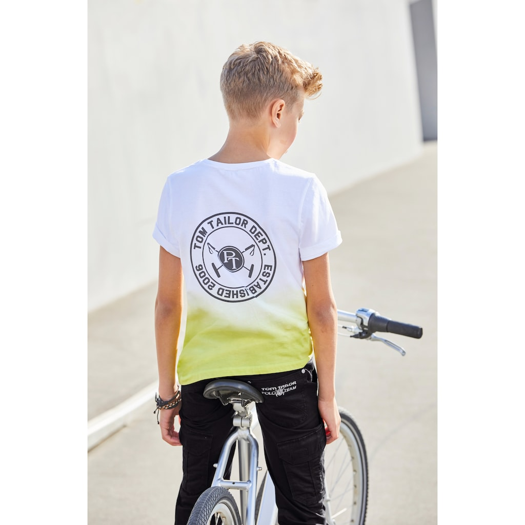 TOM TAILOR Polo Team T-Shirt »Farbverlauf«