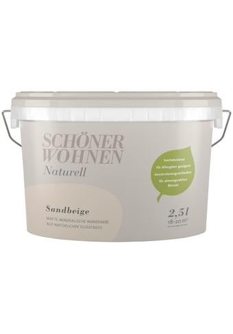 SCHÖNER WOHNEN-Kollektion Wand- und Deckenfarbe »Naturell Sandbeige«, sandbeige, 2,5 l kaufen