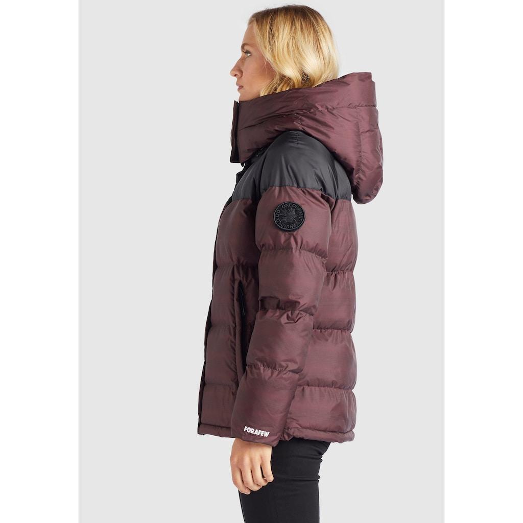khujo Steppjacke »ADANE«, stylische Winterjacke mit abnehmbarer großer Kapuze