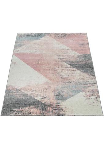 Paco Home Teppich »Mero 102«, rechteckig, 17 mm Höhe, Kurzflor, Pastell-Farben, Vintage Design, Wohnzimmer kaufen