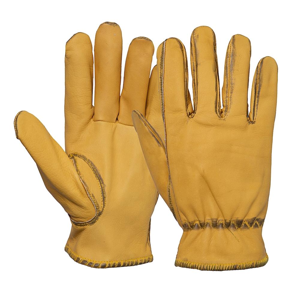 KingKerosin Lederhandschuhe, im Vintage-Look
