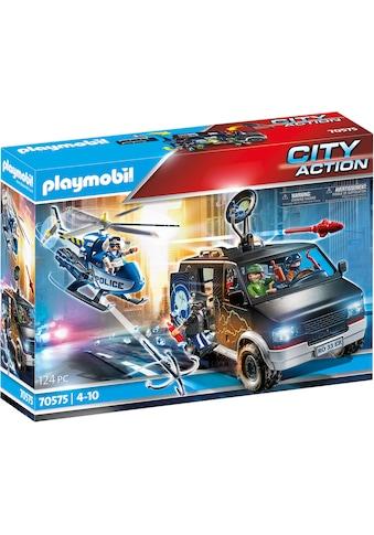 Playmobil® Konstruktions-Spielset »Polizei-Helikopter: Verfolgung des Fluchtfahrzeugs... kaufen
