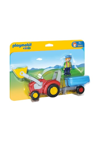 Playmobil® Konstruktions-Spielset »Traktor mit Anhänger (6964), Playmobil 1-2-3«, Made... kaufen