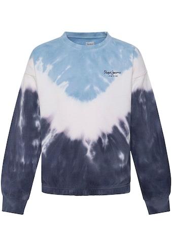 Pepe Jeans Sweater »TRACYS«, in angesagter Batik-Optik mit kleinem Marken-Logo-Druck kaufen