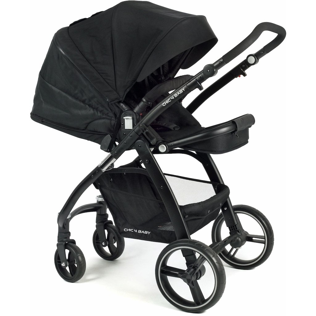 CHIC4BABY Kombi-Kinderwagen »Volare, schwarz«, inklusive Sportsitz