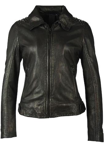 Gipsy Lederjacke »Lania«, short Jacket mit Nieten im Metallic-Look kaufen