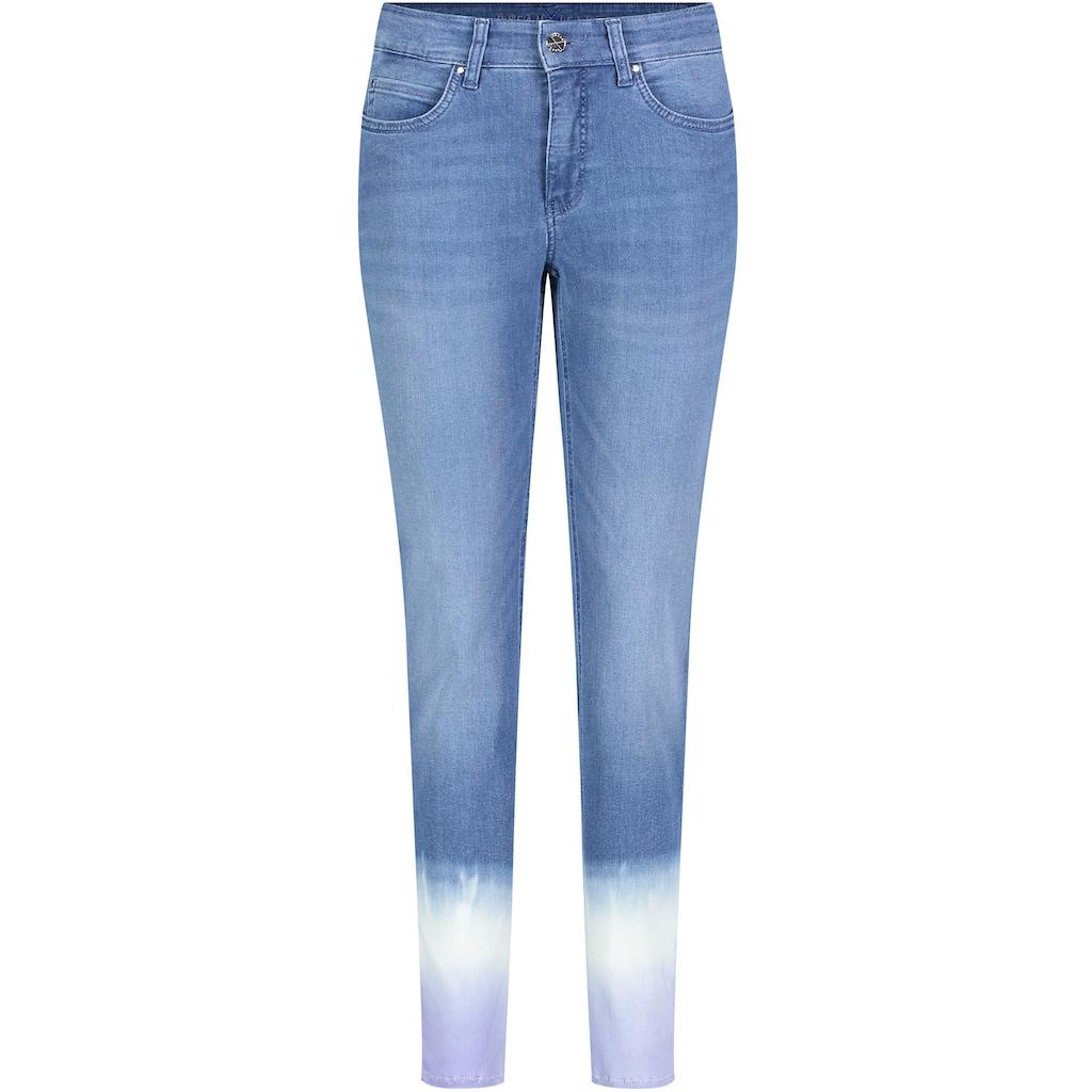 MAC 7/8-Jeans »Dream Skinny Finges«, Besondere Dip-Wash-Optik am Saum