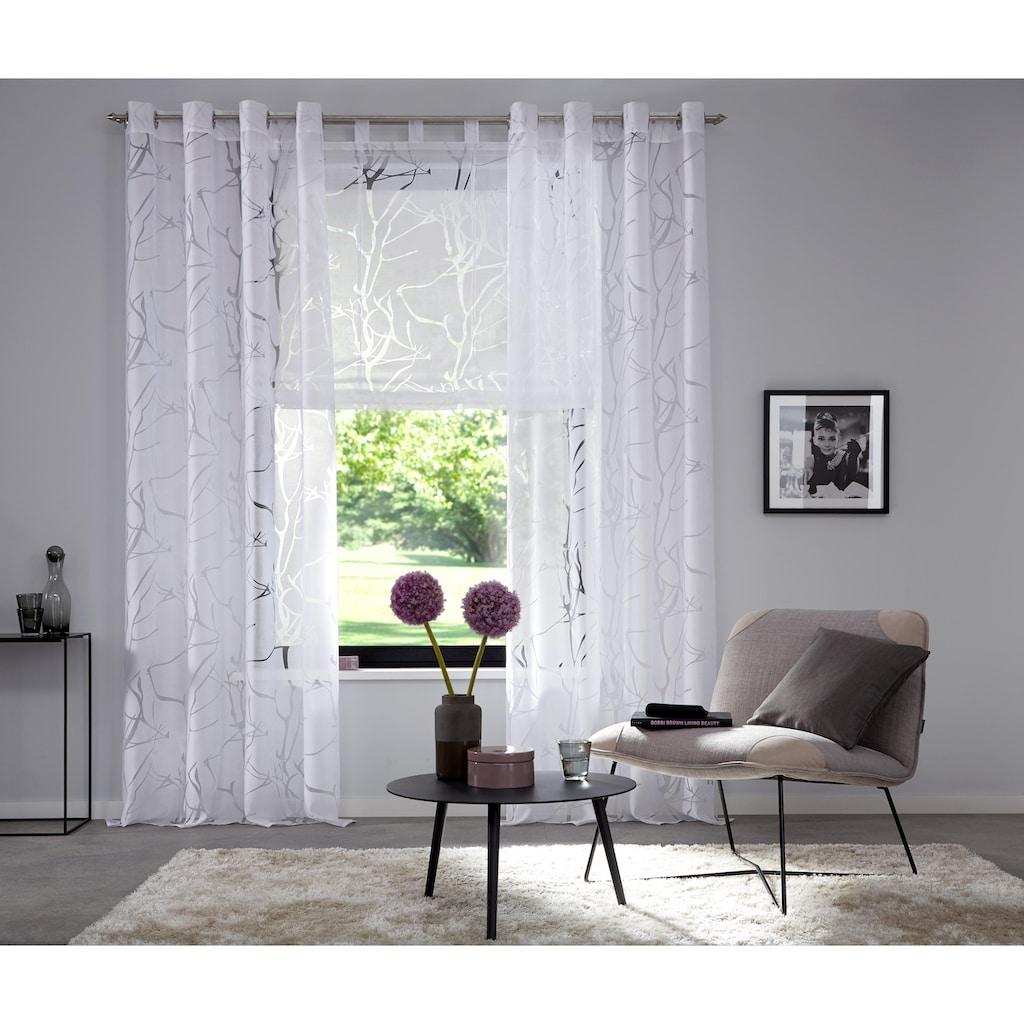 my home Raffrollo »Anna«, mit Schlaufen