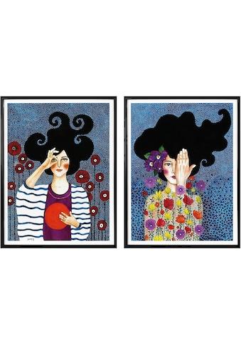 Wall-Art Poster »Hülya - Augenblicke«, (Set), mit Rahmen, Poster, Wandbild, Bild,... kaufen