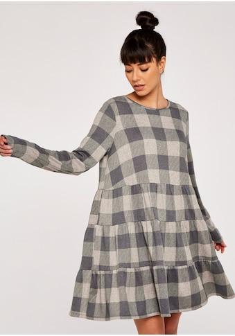 Apricot Karokleid »Check Print Cozy Tiered Dress« kaufen