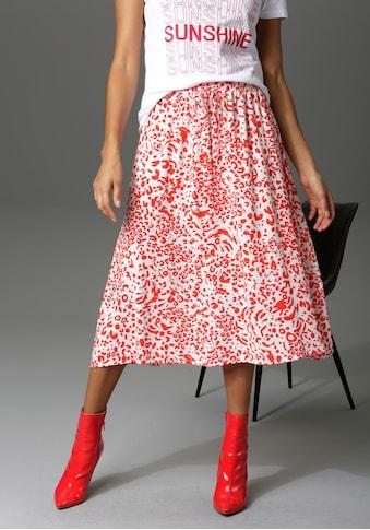 Aniston CASUAL Sommerrock, mit trendigem Alloverdruck - NEUE KOLLEKTION kaufen