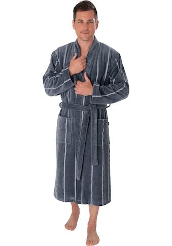 Wewo fashion Herrenbademantel »1607«, mit Streifen kaufen