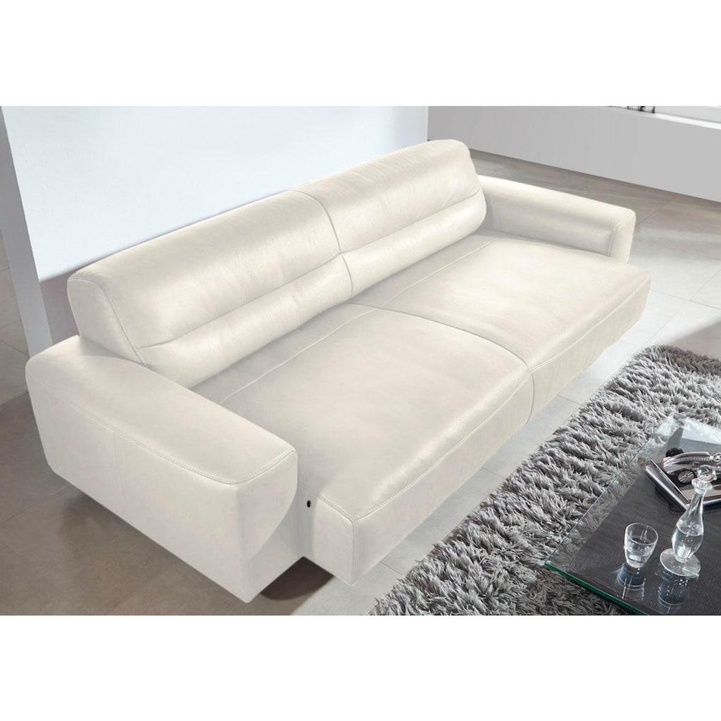 W.SCHILLIG 2,5-Sitzer »william«, Ledersofa, wahlweise mit Sitztiefenverstellung, Breite 226 cm