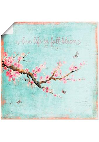 Artland Wandbild »Kirschblüte«, Blumen, (1 St.), in vielen Größen & Produktarten -... kaufen
