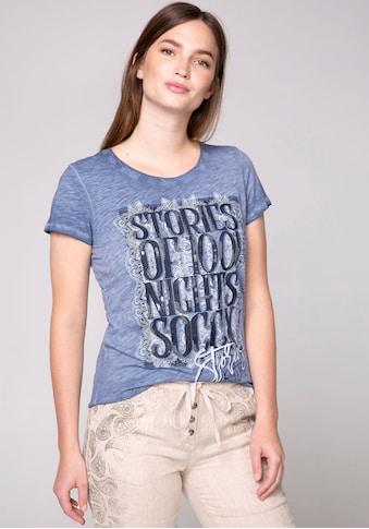 SOCCX T-Shirt, mit großem Print und Pailletten kaufen