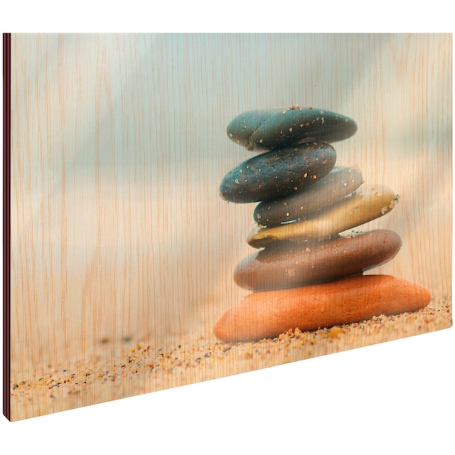 Art & Pleasure Holzbild »Balanced stones«