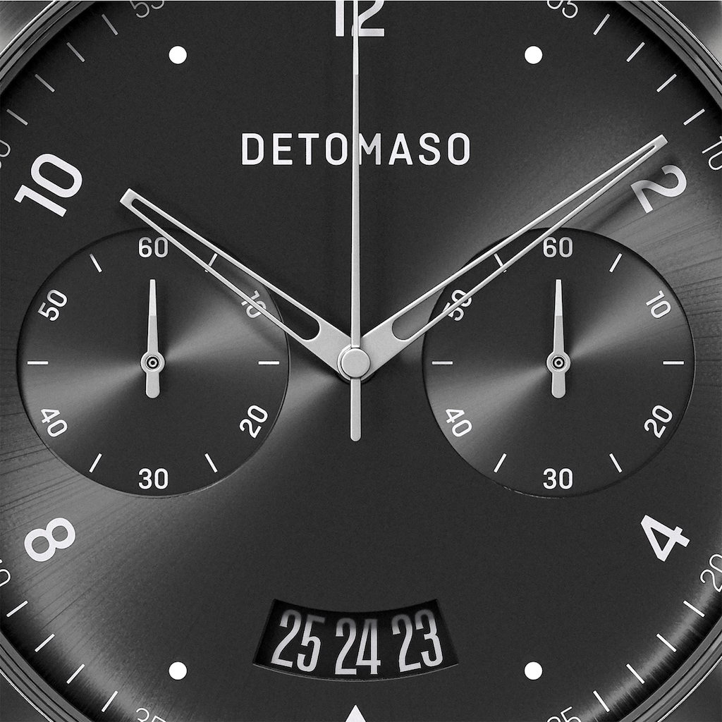DETOMASO Chronograph »SORPASSO QUARZUHR SILVER GREY«