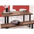 INOSIGN Baumkantentisch »Selina«, mit schönem Metallgestell und folierte Holzoptik auf der Tischplatte