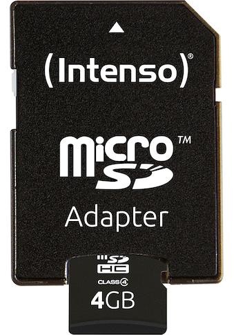 Intenso Speicherkarte »microSDHC Class 4 + SD-Adapter«, ( Lesegeschwindigkeit 16,5 MB/s) kaufen