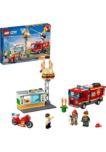 """LEGO® Konstruktionsspielsteine """"Feuerwehreinsatz im Burger - Restaurant (60214), LEGO® City"""", (327 - tlg.) kaufen"""