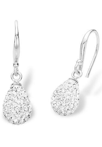 Amor Paar Ohrhaken »9124176«, mit Kristallglasssteinen kaufen