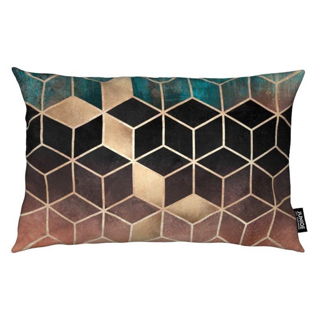 Juniqe Dekokissen »Ombre Dream Cubes«, Weiches, allergikerfreundliches Material