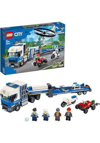 """LEGO® Konstruktionsspielsteine """"Polizeihubschrauber - Transport (60244), LEGO® City"""", Kunststoff, (317 - tlg.) kaufen"""